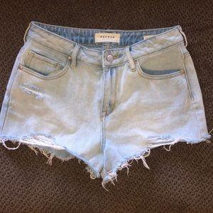 PACSUN LA Denim shortie shorts